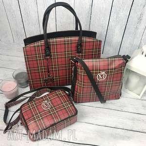 ręcznie robione torebki krata modna listonoszka typu chanelka