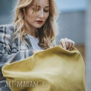 musztardowa torebki torba w kształcie łódki