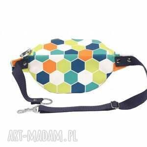 saszetka torebki pomarańczowe nerka mozaika