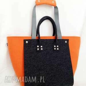 efektowne torebki filc nowość!!! officefelt - duża torba
