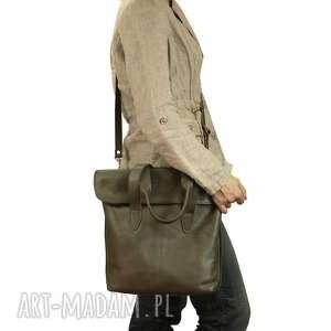 unikalne torebki torebka oliwkowa torba z klapką ze skóry