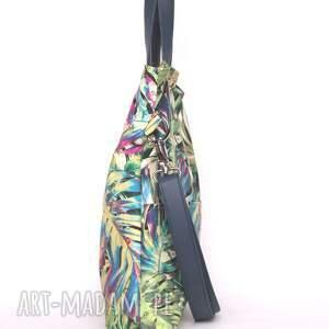 kolorowe torebki letnia oryginalna torba w tropikalne
