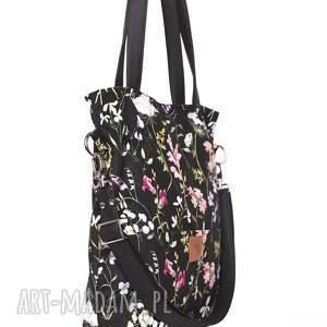 unikalne torebki letnia piękna czarna torebka w kwiatowy