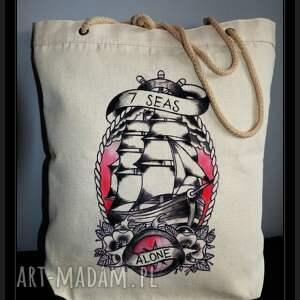 niekonwencjonalne torebki eko płócienna tatuowana torba z recznie