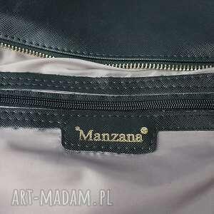 ManzanaTorebki torebka listonoszka manzana zameczki czarna klasyczna - ręcznie robione