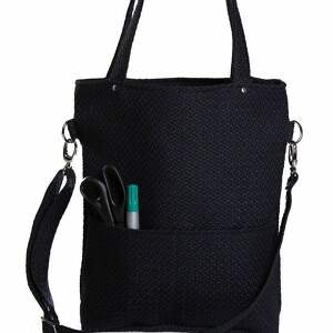 handmade torebki torebka prostokątna czarna z grubej