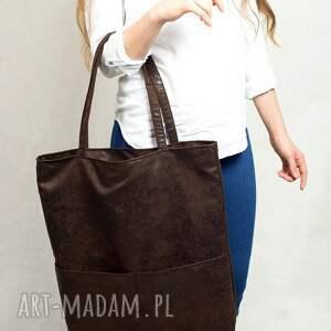 torebki duża prostokątna torba w kolorze