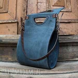 brązowe torebki markowa torba ręcznie wykonana skórzana
