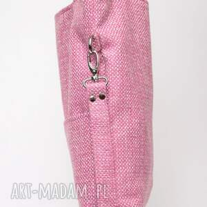 niepowtarzalne torebki gruba różowa torba a4 z grubej plecionki
