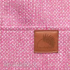 torebki plecionka różowa torba a4 z grubej plecionki