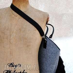 unikatowe torebki filc shopper bag z kitą