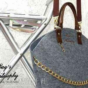 torba torebki brązowe shopper bag glamour;-)