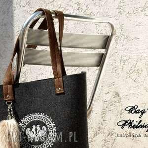 torebki shopper bag z kitą w stylu folk!