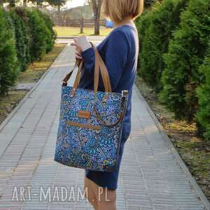 niebieskie torebki musthave shopper bag
