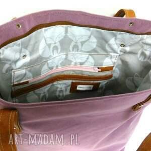 unikalne torebki wrzosowa shopper bag
