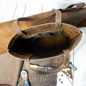 torebka-brązowa torebki shopper boho torebka skórzana