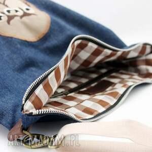 jeansówka torebki sowy jeans