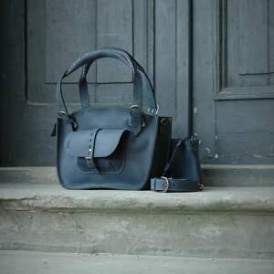 niebieskie torebki torba do biura stylowa skórzana oryginaalna