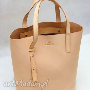 torebki skórzana stylowy shopper bag ze skóry