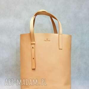 torebki torebka stylowy shopper bag ze skóry