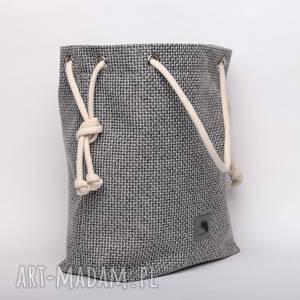 torebki szara torba z grubo plecionej