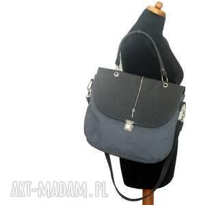 gustowne torebki listonoszka szara z retro zapięciem