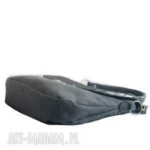 listonoszka torebki szara z retro zapięciem