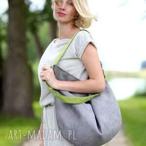 torebki torebka szara zamszowa torba w kształcie
