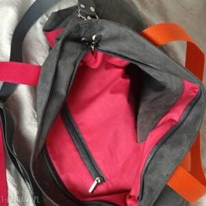 intrygujące torebki wegańska szara zamszowa torba na ramię