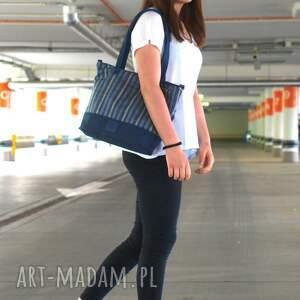 ręcznie wykonane torebki torba granat marine