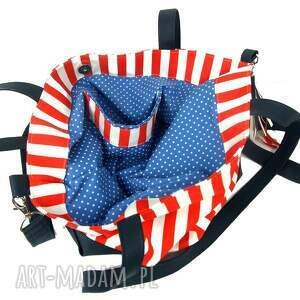 niebieskie torebki plaża torba xl marine