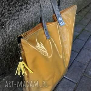 unikalne torebki torba neon musztarda