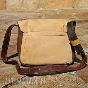 beżowe torebki torba skórzana navahoclothing
