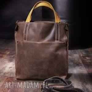 brązowe torebki torba na laptopa skórzana damska