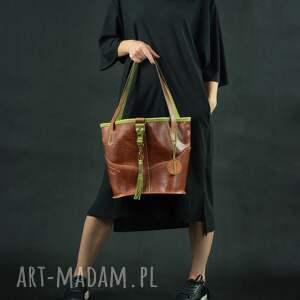 torba torebki czerwone torebka skórzana ręcznie