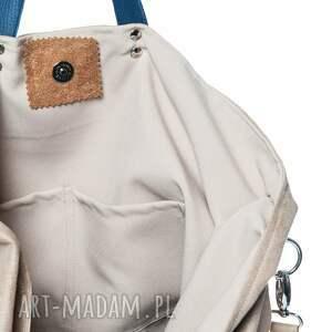beżowe torebki duża torba worek short beige