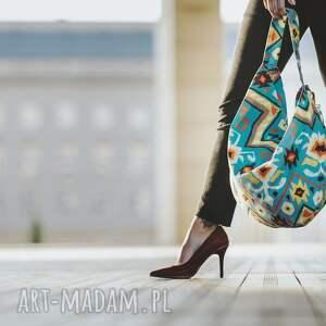 prezent święta duża torba damska worek w azteckie wzory