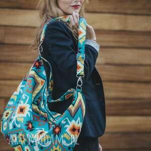 prezent święta torba worek w azteckie wzory