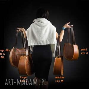 torebki: torebka Basia duża pojemna wygodna nietypowa idealna piekna z zamkiem ręcznie brązowa