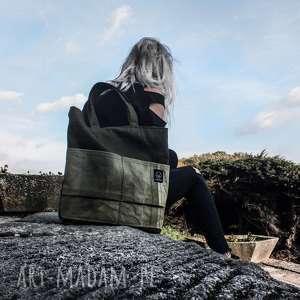 ręcznie zrobione torebki khaki torebka canvas