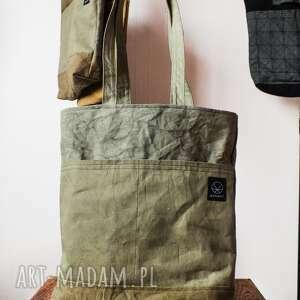 oliwkowa torebki torebka canvas khaki