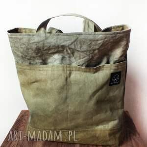 zielone torebki pomysł torebka canvas khaki