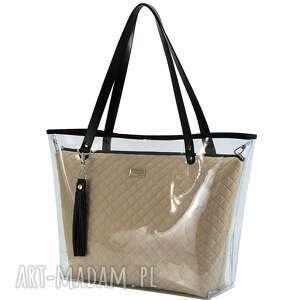czarne torebki kobieca torebka delise 2w1 1297 ciemny beż