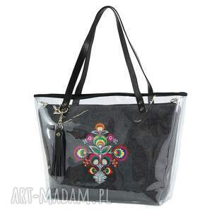 torebki pojemna torebka delise 2w1 2313 folk ciemna