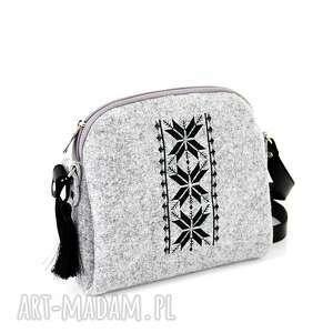 handmade torebki listonoszka torebka filcowa mini romby 0212