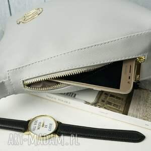srebrne torebki torba torebka listonoszka manzana