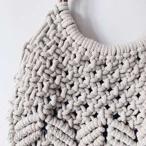 białe torebki makrama torebka makramowa - kolor