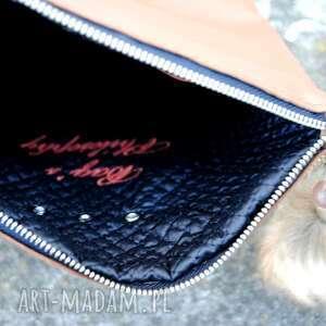 awangardowe torebki skórzana torebka na skos burgund