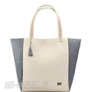 szare torebki pikowana torebka simple 136