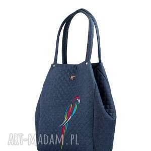 rozkładana torebki torebka pikowana papuga 514